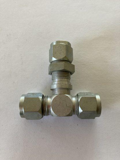 Lenz Bulkhead Union Tee O-Ring Seal Tube Fitting