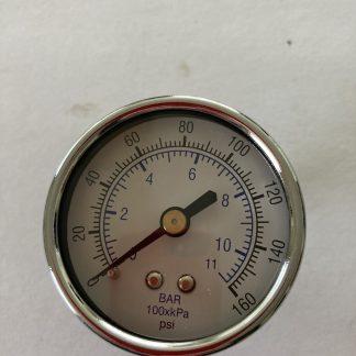 """2"""" DIA AIR PRESSURE GAUGE 0-160 PSI 1/4"""" BACK MOUNT"""