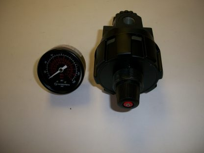 """R24-200-RGLA 1/4"""" Pipe Thread Regulator 5-100 PSI Outlet Relieving Gauge High Flow High Relief Flow"""