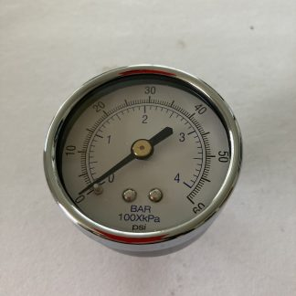 """2"""" DIA AIR PRESSURE GAUGE 0-60 PSI 1/4 BACK MOUNT"""