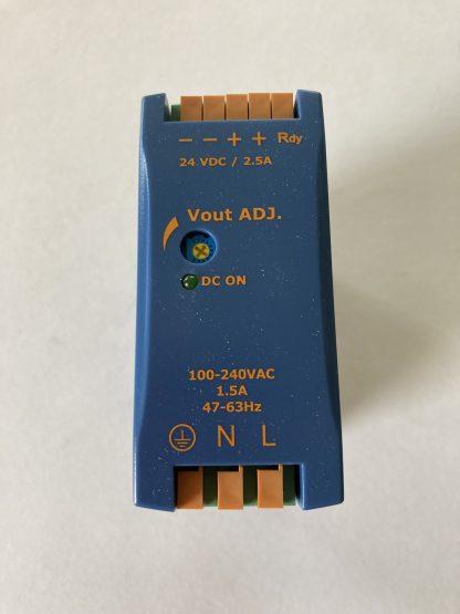 DETSA POWER SUPPLY 100-240 VAC INPUT 24VDC 2.5 AMPS OUTPUT SINGLE PHASE